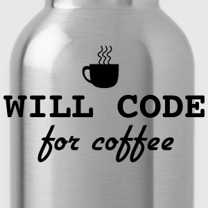 Will code for coffee T-Shirts - Water Bottle