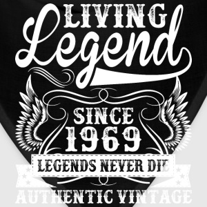 Living Legend Since 1969 Legends Never Die T-Shirts - Bandana