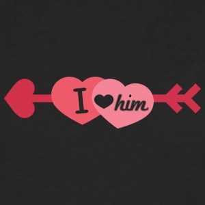 I love him - Men's Premium Long Sleeve T-Shirt