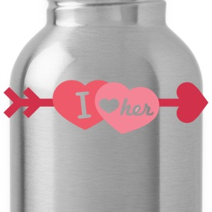 I love her - Water Bottle