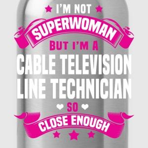 Cable Television Line Technician Tshirt - Water Bottle