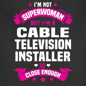 Cable Television Installer Tshirt - Adjustable Apron