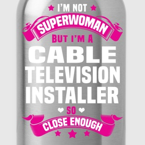 Cable Television Installer Tshirt - Water Bottle