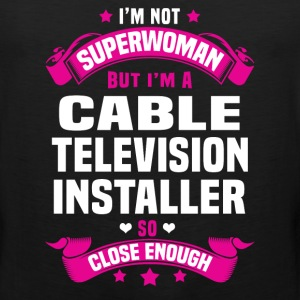 Cable Television Installer Tshirt - Men's Premium Tank