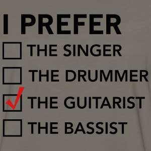 I prefer the guitarist checklist T-Shirts - Men's Premium Long Sleeve T-Shirt