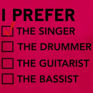 I prefer the singer checklist T-Shirts - Women's Premium Long Sleeve T-Shirt