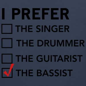 I prefer the bassist checklist T-Shirts - Men's Premium Tank
