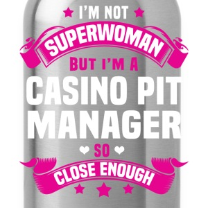 Casino Pit Manager Tshirt - Water Bottle