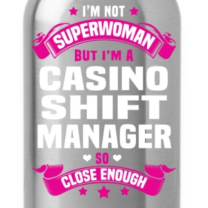 Casino Shift Manager Tshirt - Water Bottle