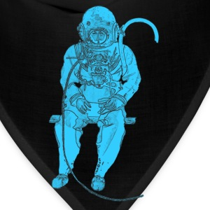 Sitting Vintage Diver with Diving Helmet - Bandana