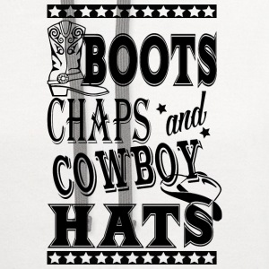 boot's shaps and cowboys hats  - Contrast Hoodie