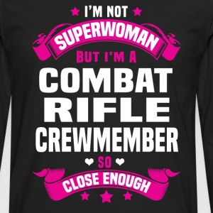 Combat Rifle Crewmember Tshirt - Men's Premium Long Sleeve T-Shirt