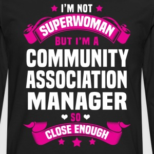Community Association Manager Tshirt - Men's Premium Long Sleeve T-Shirt