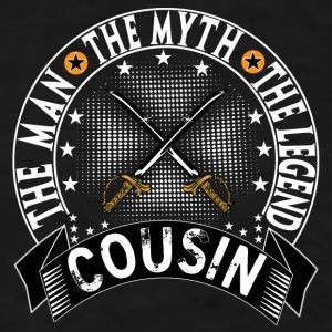 COUSIN THE MAN THE MYTH THE LEGEND Mugs & Drinkware - Men's T-Shirt