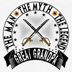 GREAT GRANDPA THE MAN THE MYTH THE LEGEND Mugs & Drinkware - Men's T-Shirt