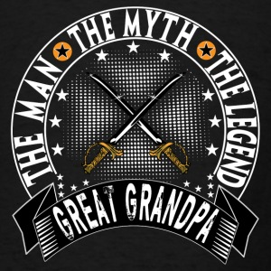 GREAT GRANDPA THE MAN THE MYTH THE LEGEND Aprons - Men's T-Shirt