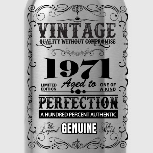 Premium Vintage 1971 Aged To Perfection T-Shirts - Water Bottle