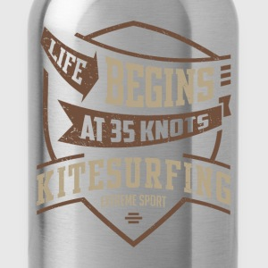 Life Begins at 35 Kitesurfing T-shirt  - Water Bottle