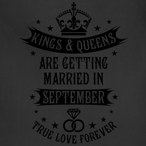 Kings and Queens are married in September Wedding  - Adjustable Apron