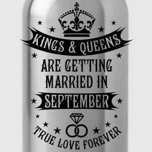 Kings and Queens are married in September Wedding  - Water Bottle