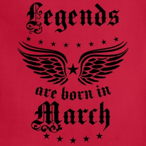 Legends are born in March birthday Vintage Stars s - Adjustable Apron