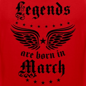 Legends are born in March birthday Vintage Stars s - Men's Premium Tank