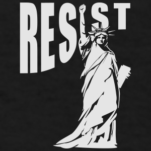 lady liberty resist fist Mugs & Drinkware - Men's T-Shirt