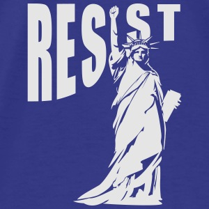 lady liberty resist fist Aprons - Men's Premium T-Shirt