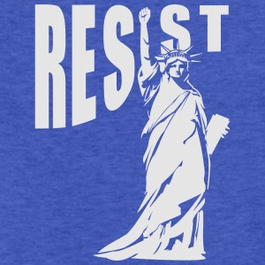 lady liberty resist fist Sweatshirts - Fitted Cotton/Poly T-Shirt by Next Level