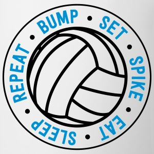Volleyball. Bump. Set. Spike. Eat. Sleep. Repeat T-Shirts - Coffee/Tea Mug