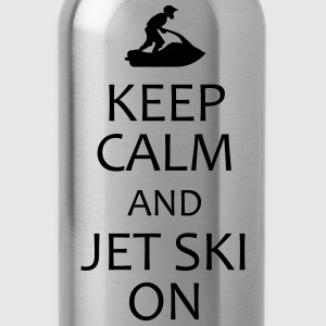keep calm and jet ski on t-shirt - Water Bottle