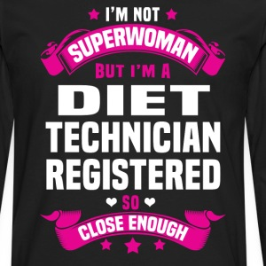 Diet Technician Registered Tshirt - Men's Premium Long Sleeve T-Shirt