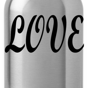 Love black font - Water Bottle