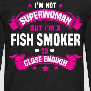 Fish Smoker Tshirt - Men's Premium Long Sleeve T-Shirt