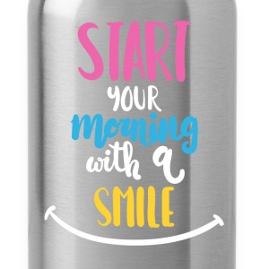 Inspiration - Start your morning with a smile - Water Bottle