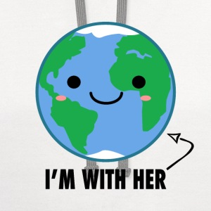 I'm With Her - Planet Earth Day - Contrast Hoodie