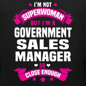 Government Sales Manager T-Shirts - Men's Premium Tank