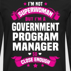 Government Program Manager T-Shirts - Men's Premium Long Sleeve T-Shirt