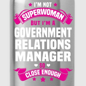 Government Relations Manager T-Shirts - Water Bottle