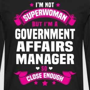 Government Affairs Manager T-Shirts - Men's Premium Long Sleeve T-Shirt
