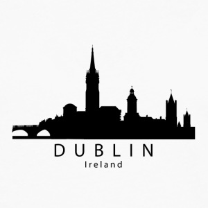 Dublin Ireland Skyline - Men's Premium Long Sleeve T-Shirt