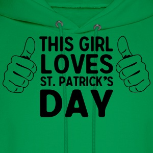 This girl loves St. Patrick's Day T-Shirts - Men's Hoodie