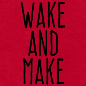 wake and make Mugs & Drinkware - Men's T-Shirt by American Apparel