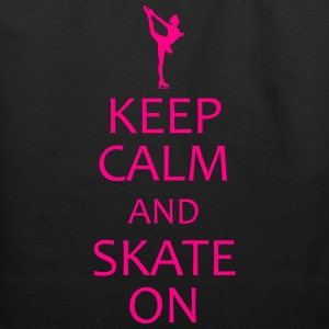 keep calm and ice skate on shirt - Eco-Friendly Cotton Tote