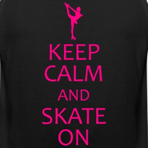 keep calm and ice skate on shirt - Men's Premium Tank