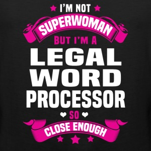 Legal Word Processor T-Shirts - Men's Premium Tank