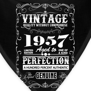 Premium Vintage 1957 Aged To Perfection T-Shirts - Bandana