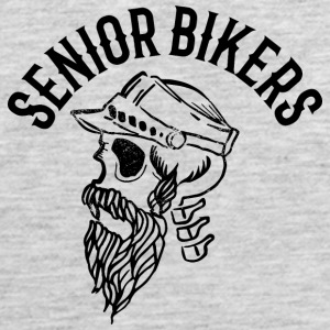 Senior biker skull tatoo inscription - Men's Premium Tank