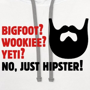 Bigfoot? Wookiee? Yeti? No, Just Hipster! Beard T-Shirts - Contrast Hoodie