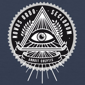 illuminati All Seeing Eye Food Humor nerd security - Men's Premium Tank